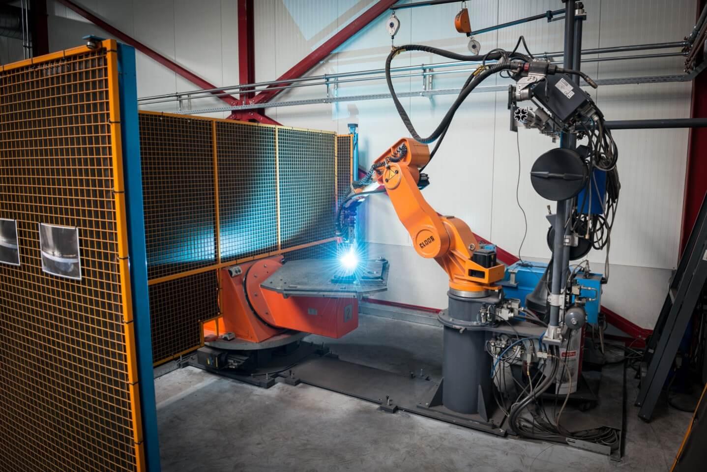 Robotlassen met Lasrobot 1 CLOOS GLC 353